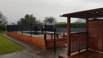 Finished product with open fencing and pagola
