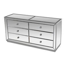 Furniture Import & Export Inc. - Jameson Silver Mirrored Bedroom Dresser - Dressers