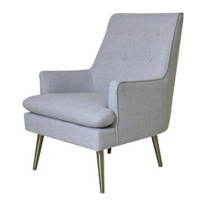 Emily Grey Wing Armchair