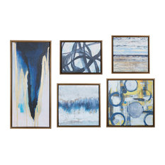 Madison Park Gallery Art 5 Piece Set in Natural Finish MP95C-0103A