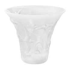 Lalique Hirondelle Flared Vase, Clear