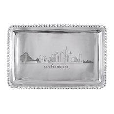 SAN FRANCISCO Cityscape Beaded Tray
