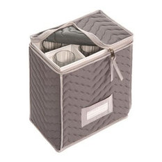 Quilted Gray Champagne Flute Chest
