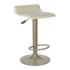 Winsome Single Airlift Swivel Stool With Beige Pvc Seat