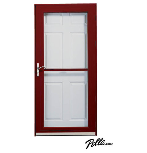 Pella® Fullview Storm Door In Cranberry   Front Doors
