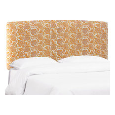 Polly Upholstered Headboard In Japanais Orange Queen