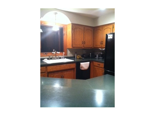 Oak Cabinets With White Appliances