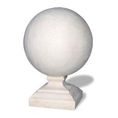 Round Cap Finial, Limestone, 18x18x25