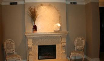 fireplace travertine