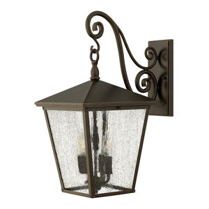 Regency Bronze Large Wall Lantern - 4 x 60W E14