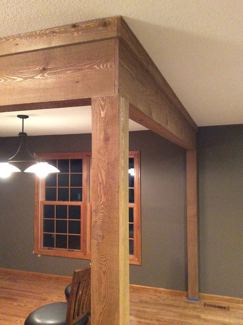 Need help with cedar wrap on support beams
