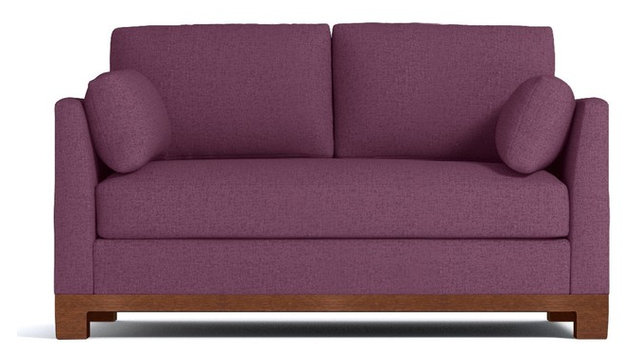 Avalon Apartment Size Sleeper Sofa Innerspring Mattress Amethyst