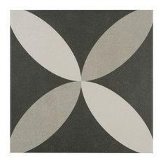 "7.75""x7.75"" Thirties Ceramic Floor/Wall Tiles, Petal"