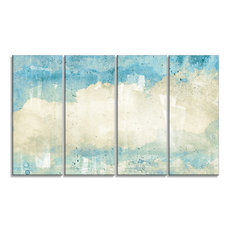"""""""Sky on Wall Texture"""" Abstract Canvas Artwork, 48""""x28"""""""