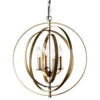 4-Light Chandelier, Antique Brass