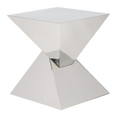 Giza Side Table, Polished Stainless