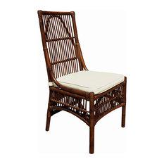 Panama Jack Bora Bora Side Chair Cushion Sunbrella Canvas Coal