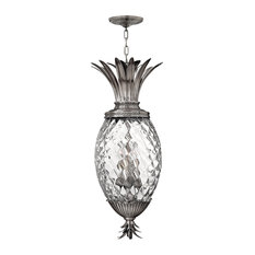 Hinkley Plantation Foyer Large Pendant, Polished Antique Nickel