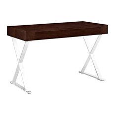 Modern Contemporary Office Desk, Walnut Wood