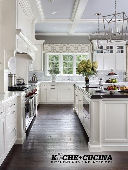 White Transitional Kitchen. Saddle River, NJ Designer Showhouse ...