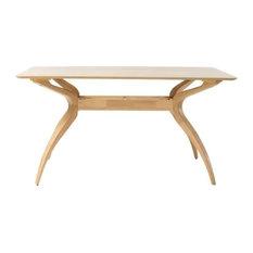 GDF Studio Seraphim Natural Oak Finish Wood Dining Table