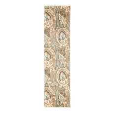 """Suzani, Hand Knotted Runner Rug, 2'7""""x10'6"""""""