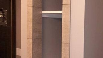 Grey Transitional Bathroom