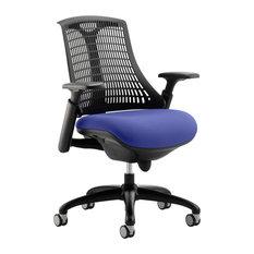 Flex Task Bespoke Office Chair With Black Back, Blue