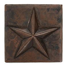 "2"" X 2"" Star Design Copper Tile (TL502STR)"