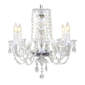 Authentic All Crystal Chandelier 4-Light