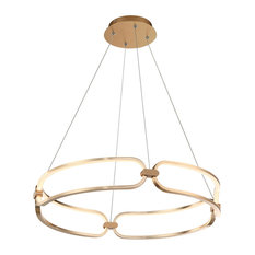 "Charmed 23"" LED Chandelier 3000K, Soft Gold"