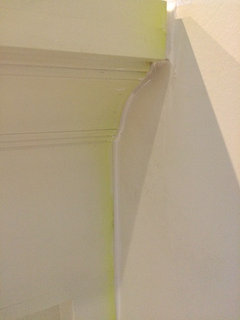 Silicone caulk reacting with painted cabinets