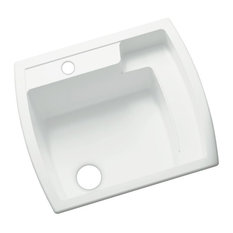 """Sterling 995 Latitude 25"""" Single Basin Drop In or Undermount - White"""