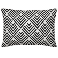 Black Geometric Arrow Outdoor Throw Pillow, 14x20