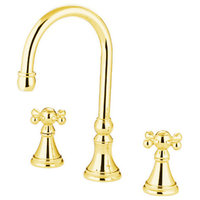 Kingston Brass KS234.KX Governor Widespread Deck Mounted Roman Tub Filler with