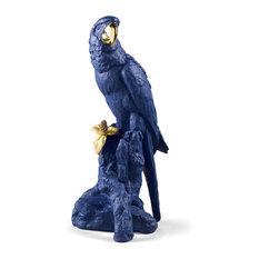 Lladro Macaw Bird Sculpture Blue Gold Limited Edition 01009401
