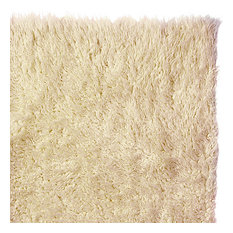 Pure Eco-Friendly Wool Flokati Shag Rug, Natural, 5'x7'