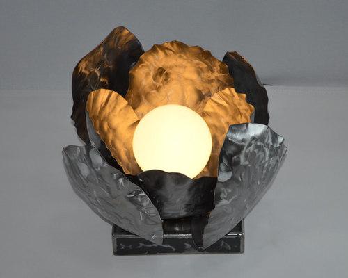 Lampe de table en métal - Luminaire Fantaisie