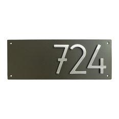 Address Plaque houseArt Modern, Dark Bronze, 7x18, 3 Number