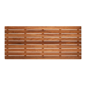 Plantation Teak Mat With Rounded Corners Modern Bath