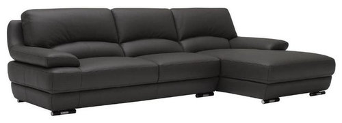 Lovely Contemporary Modern Leather L Shape Sectional   Sectional Sofas