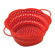 Kuhn Rikon Red Silicone 6 Inch Collapsible Mini Colander