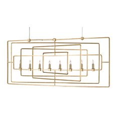 Currey and Company 9542 Metro 8 Light Candle Style Chandelier