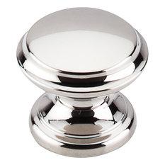"Top Knobs  -  Flat Top Knob 1 3/8"" - Polished Nickel"