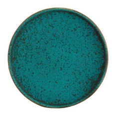 Sauvage Stoneware Bread Plates, Green, Set of 6