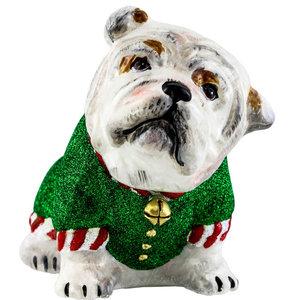 Bulldog Santa's Little Yelper Ornament