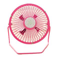 Desktop Ultra-Quiet and Creative Cartoon Mini Cute Portable Usb Fan, Pink Pitaya