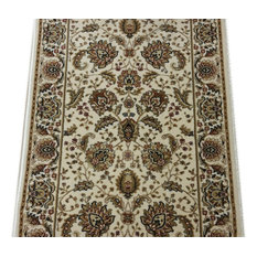 "Radiance Traditional Stair Runner Wheat, 26""x1' Rug Runner"