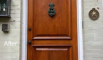 Capitol Hill Antique Mahogany Door