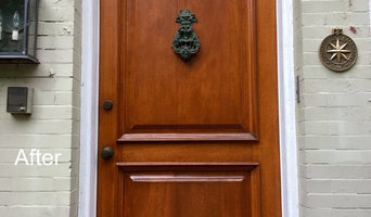 Capitol Hill Antique Mahogany Door